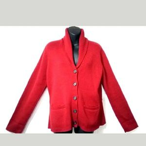 Chaps Women's XL Red Back Pleats Cowl neck sweater